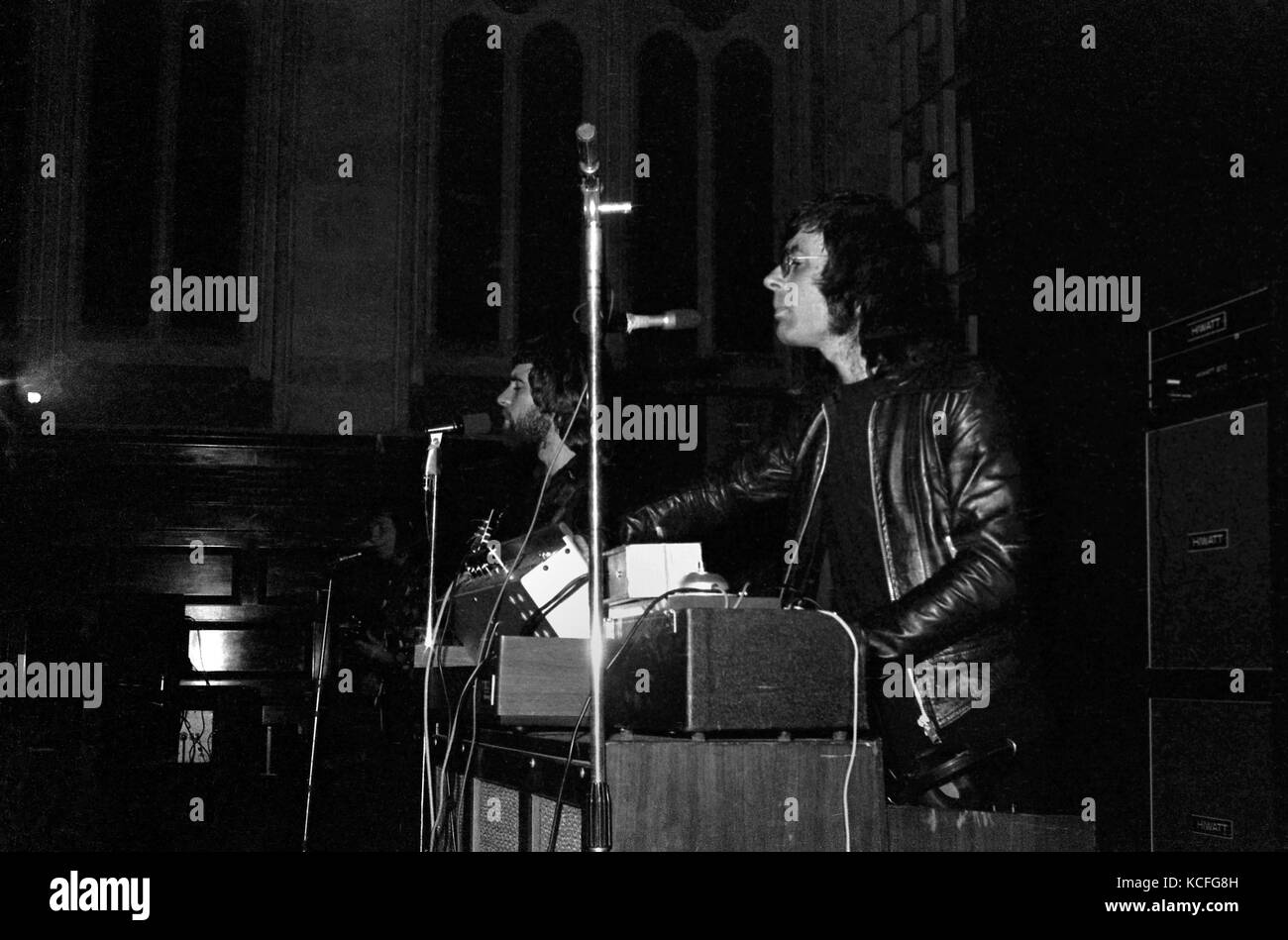 Manfred Mann's Earthband play Plymouth Guildhall on 30 December 1972.  The UK rock band had been formed the previous - Stock Image
