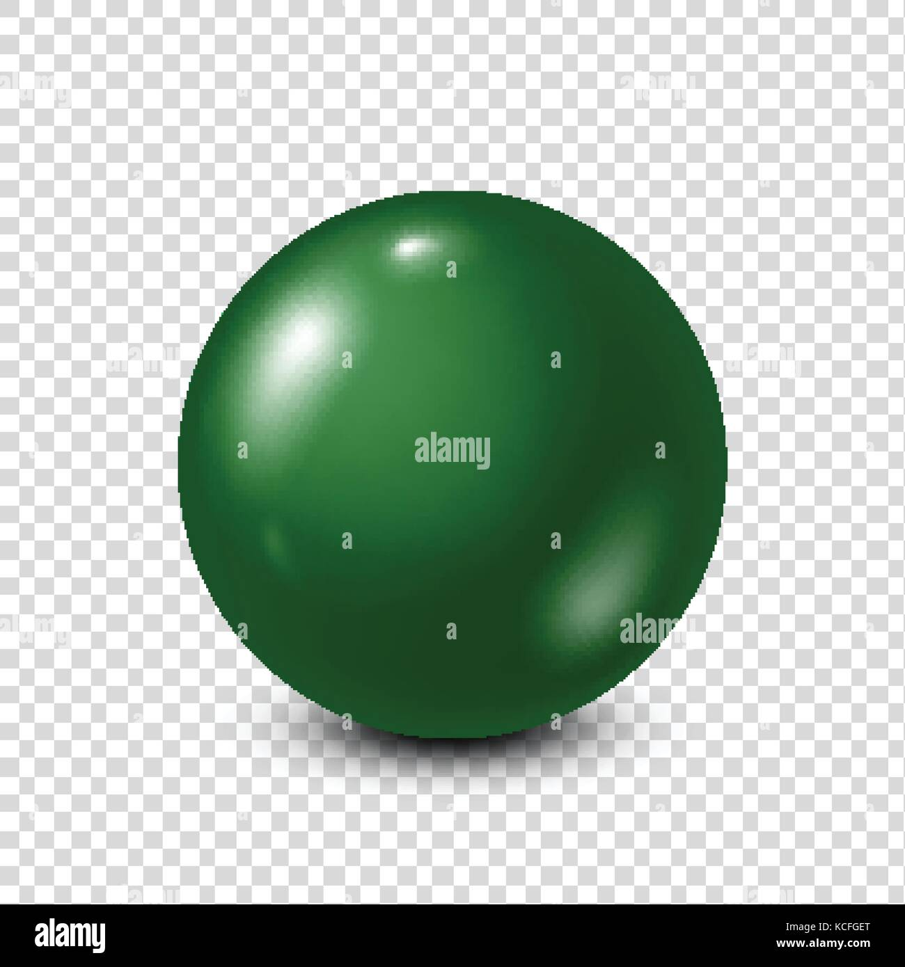Green lottery, billiard,pool ball. Snooker. Transparent background. Vector illustration. - Stock Vector