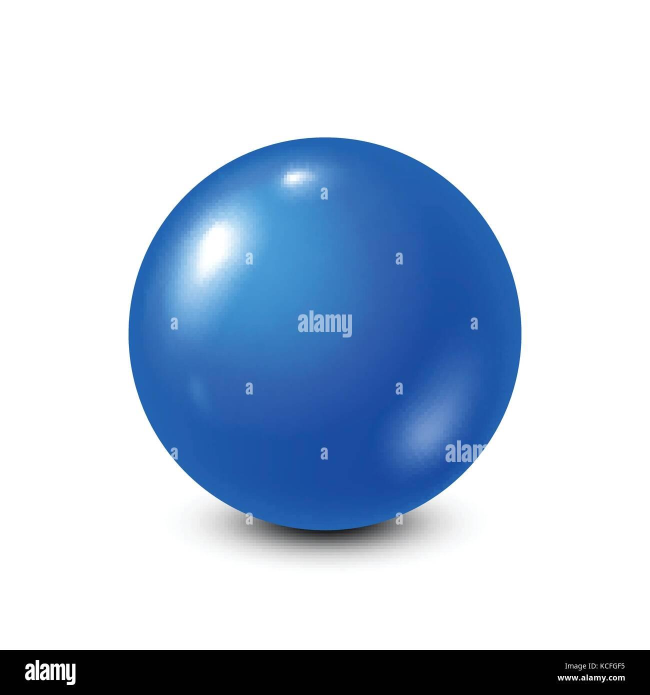 Blue lottery, billiard,pool ball. Snooker. White background. Vector illustration. - Stock Vector