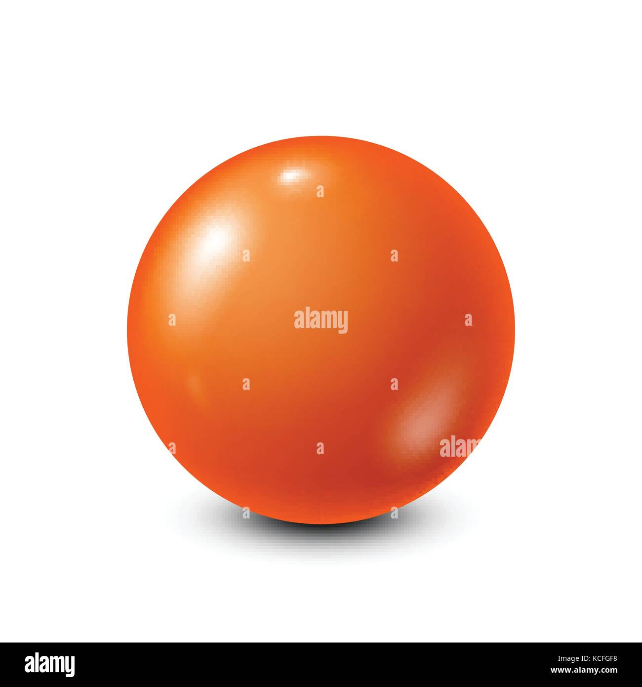 Orange lottery, billiard,pool ball. Snooker. White background. Vector illustration. - Stock Vector