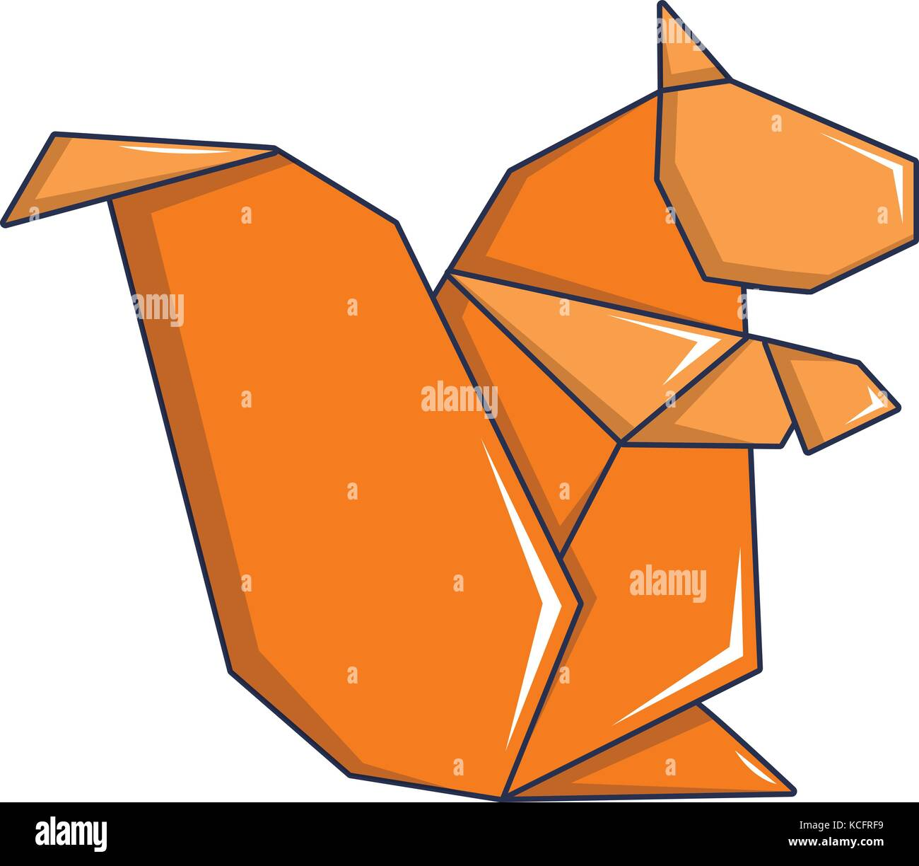 Cartoon Squirrel Stock Photos Images Alamy Advanced Origami Fox Instructions Diagram Of The Icon Style Image