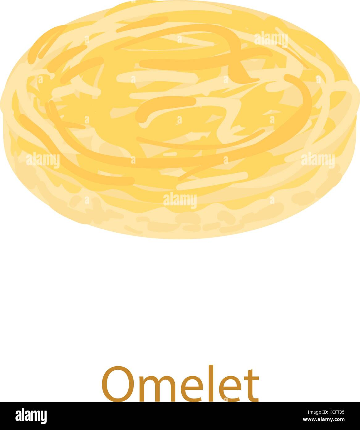 Omelet icon, isometric 3d style - Stock Vector