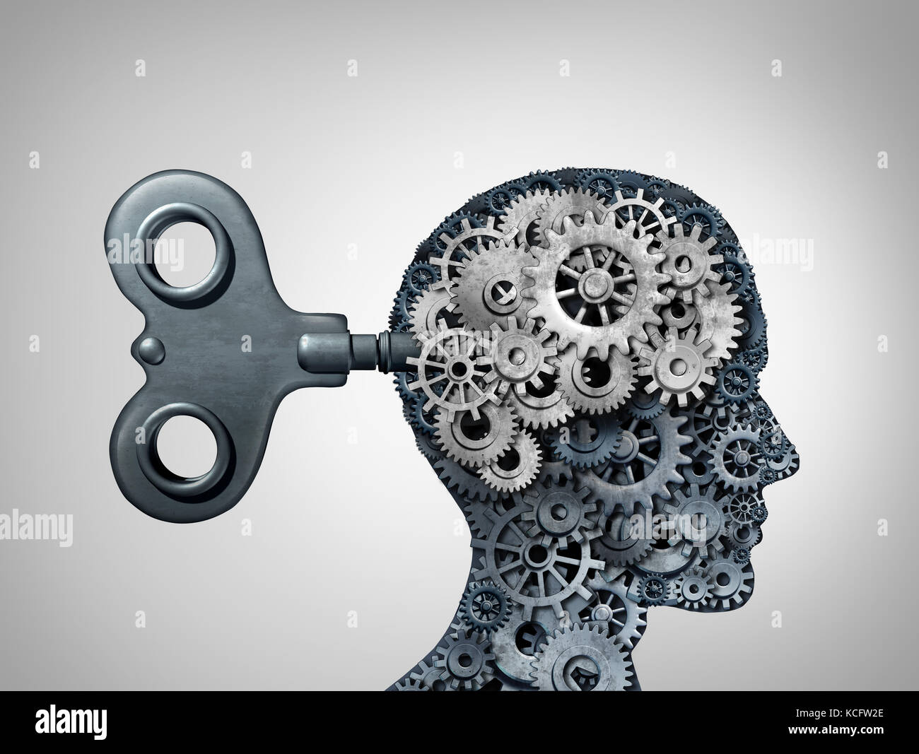 Brain Function Symbol And Psychology Mind As A Human Head