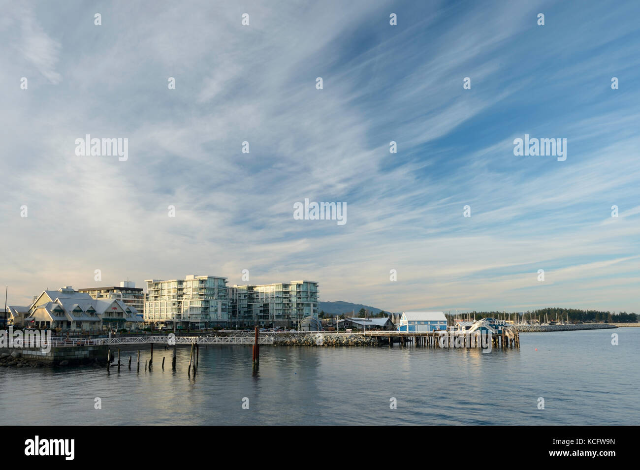 Sidney Pier Hotel, Sidney, BC Canada - Stock Image
