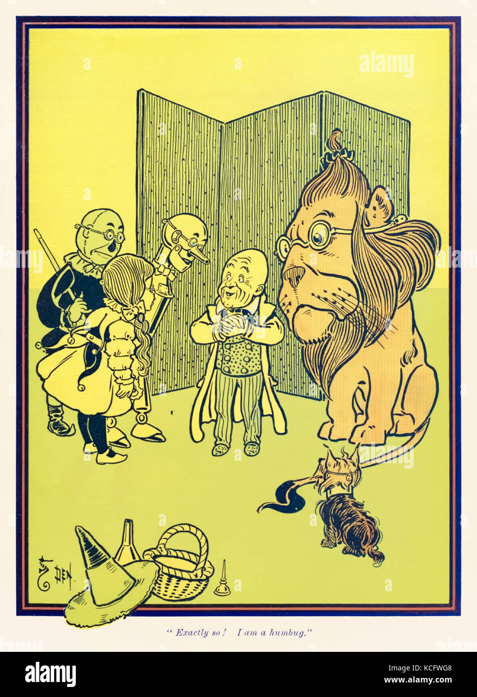 """""""Exactly so! I am a humbug."""" from 'The Wonderful Wizard of Oz' by L. Frank Baum (1856-1919) with pictures by W. - Stock Image"""