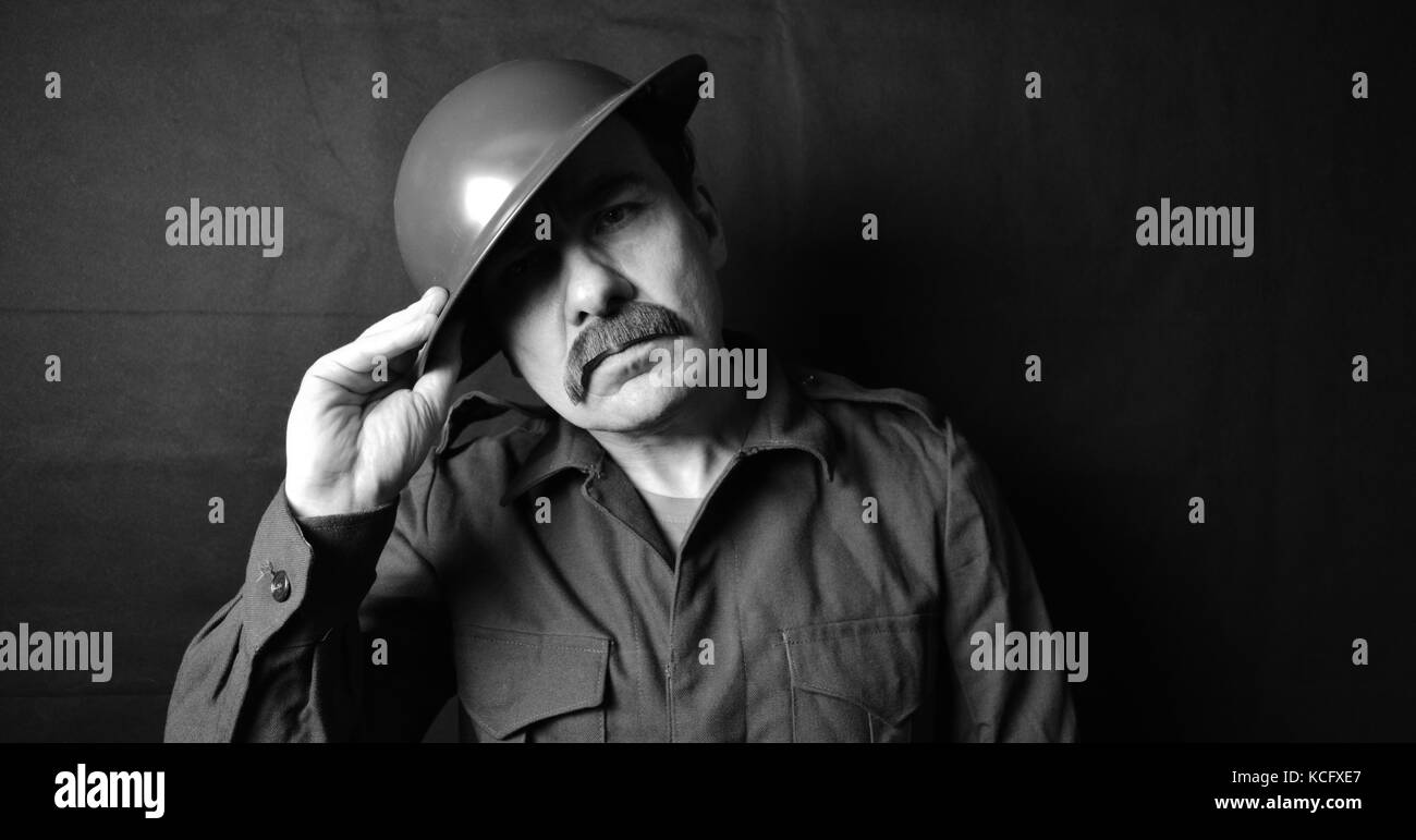 first world wear soldier - Stock Image