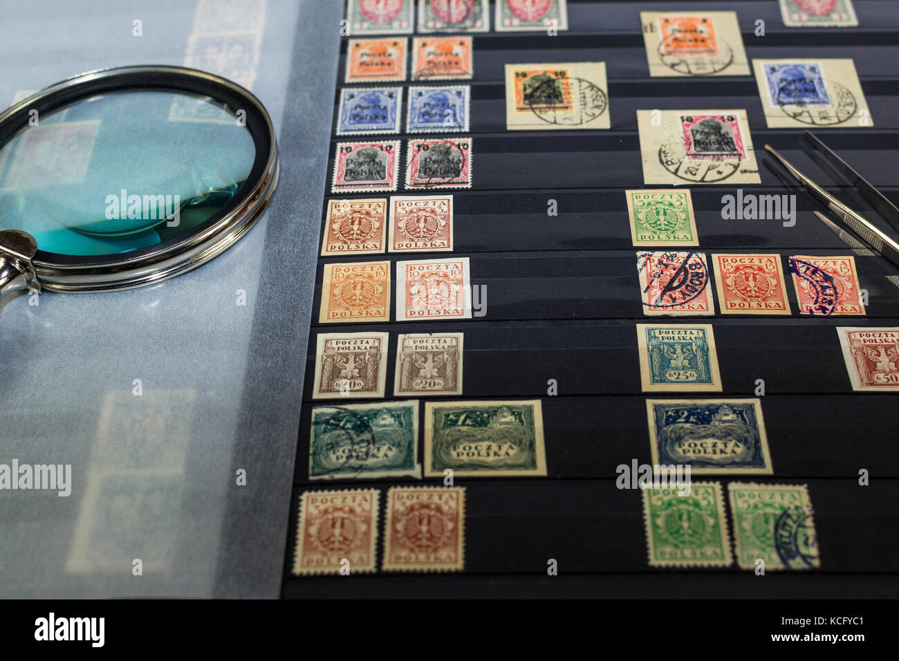 Collection of postage stamps - Stock Image