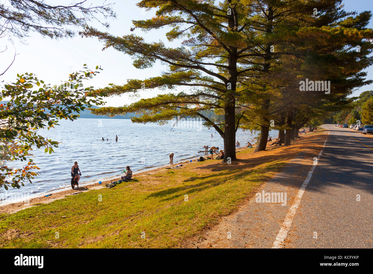 Canada,Ontario,Huntsville,Dwight, Dwight Beach sommer playground in Ontario's North in Cottage Country on Lake - Stock Image
