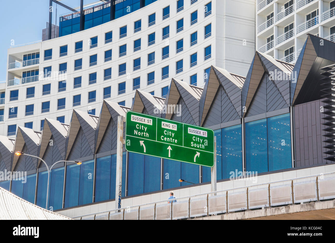 Australia, New South Wales, Sydney, Darling Harbour, condensed view of the Four Points Darling Harbour Hotel - Stock Image