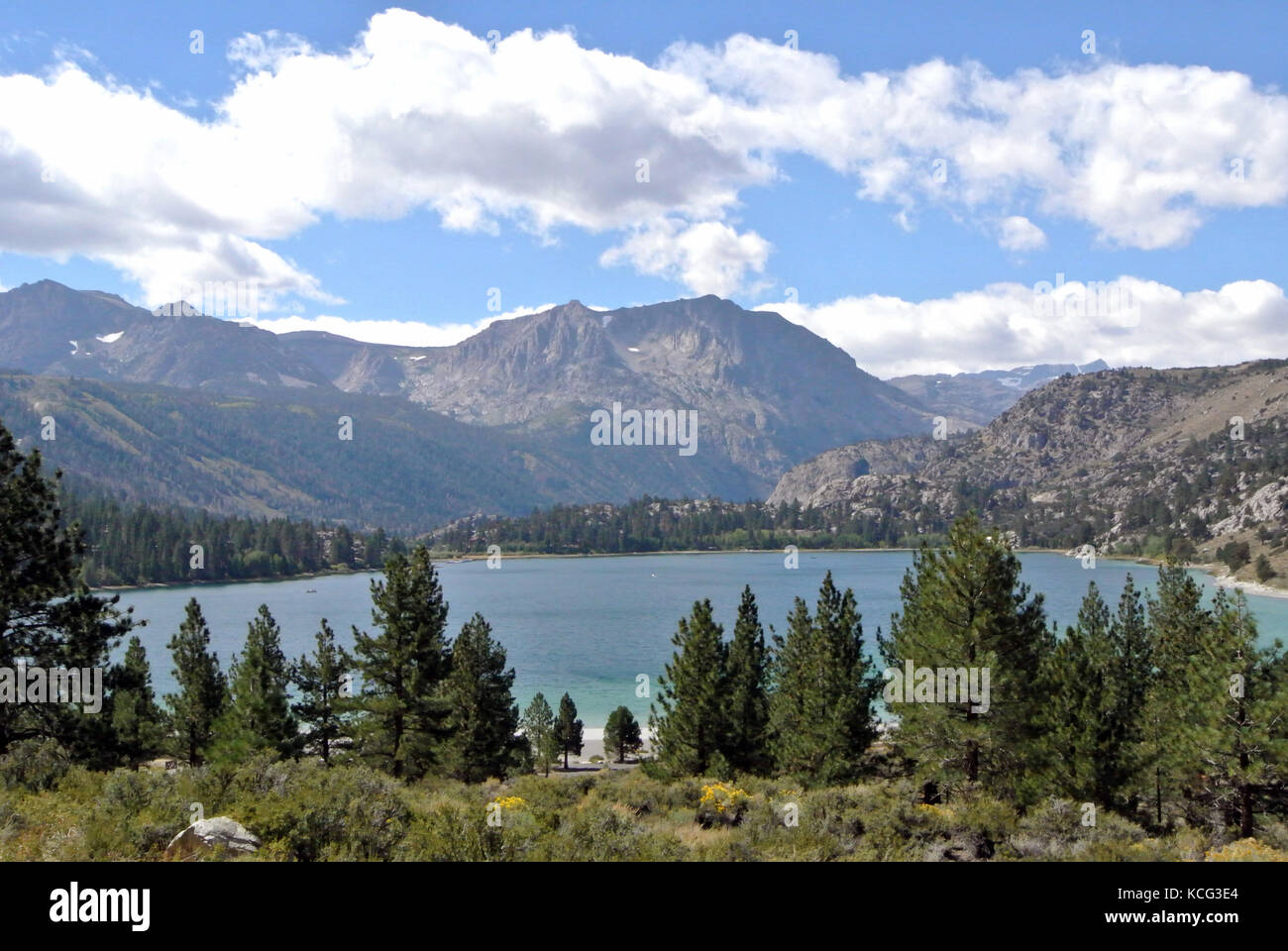 view of june lake from june lake loop Stock Photo