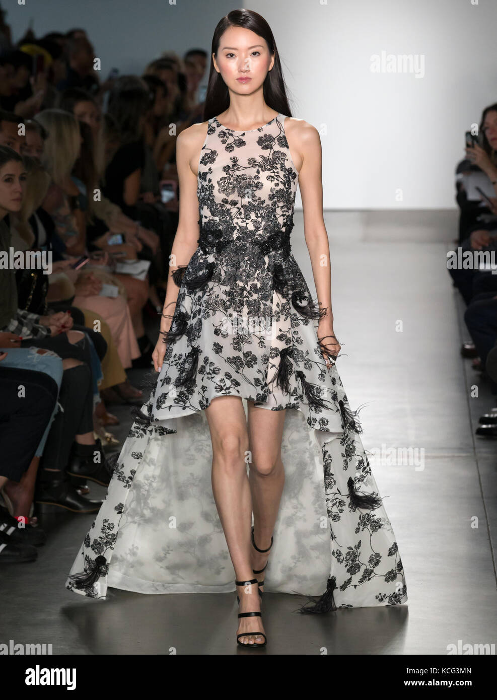 NEW YORK, NY - September 06, 2017: A model walks the runway at the Pamella Roland Spring Summer 2018 fashion show - Stock Image