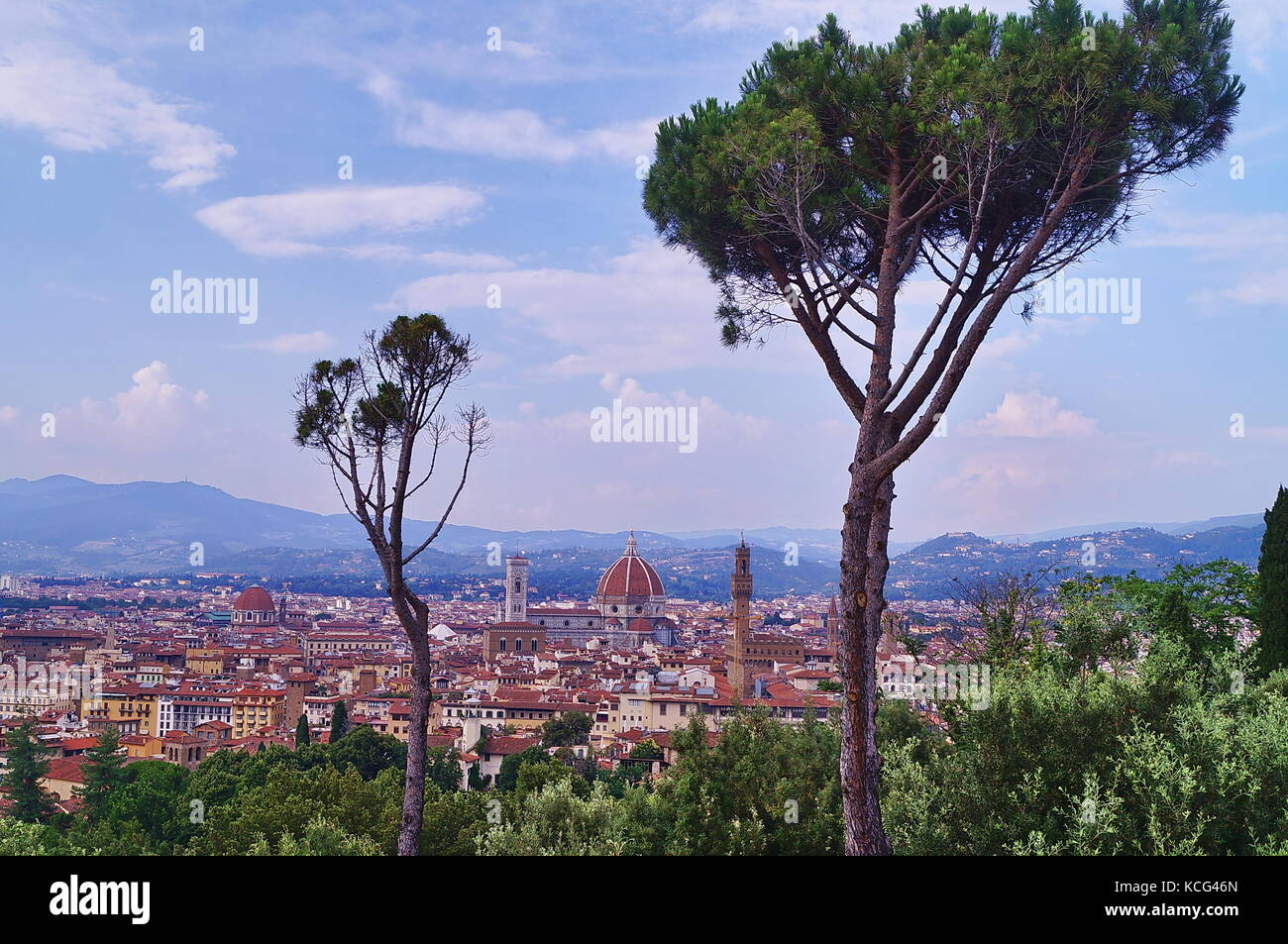 View Of Florence From Forte Belvedere Italy Stock Photo