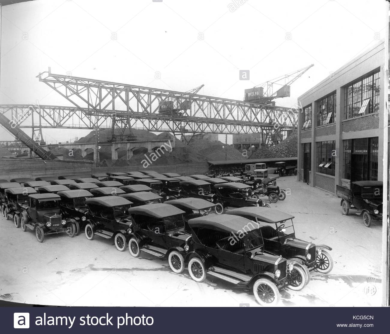 Vintage ford factory Stock Photo