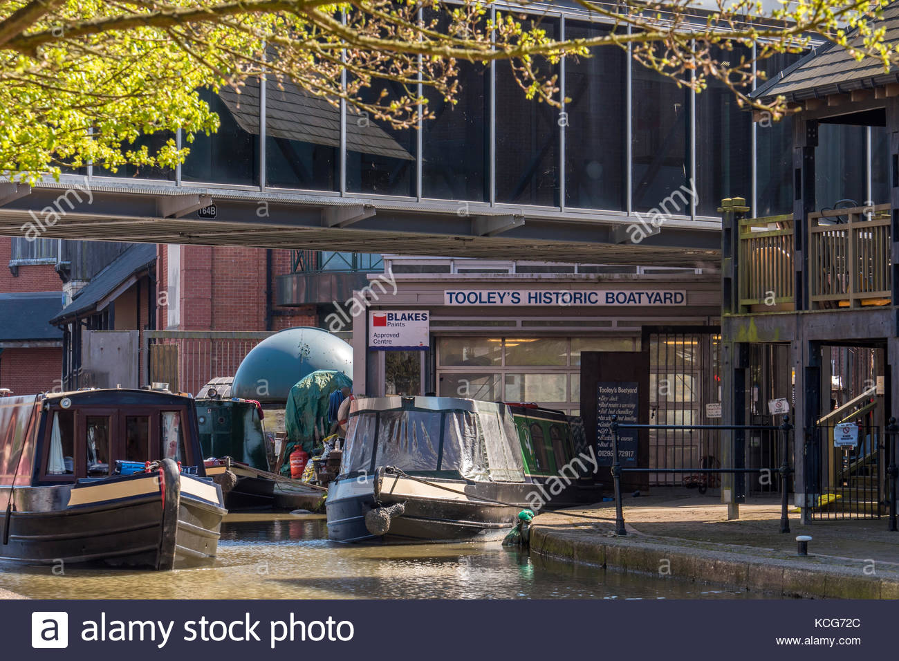 Tooleys Historic Boatyard Oxford Canal Banbury Oxfordshire England - Stock Image