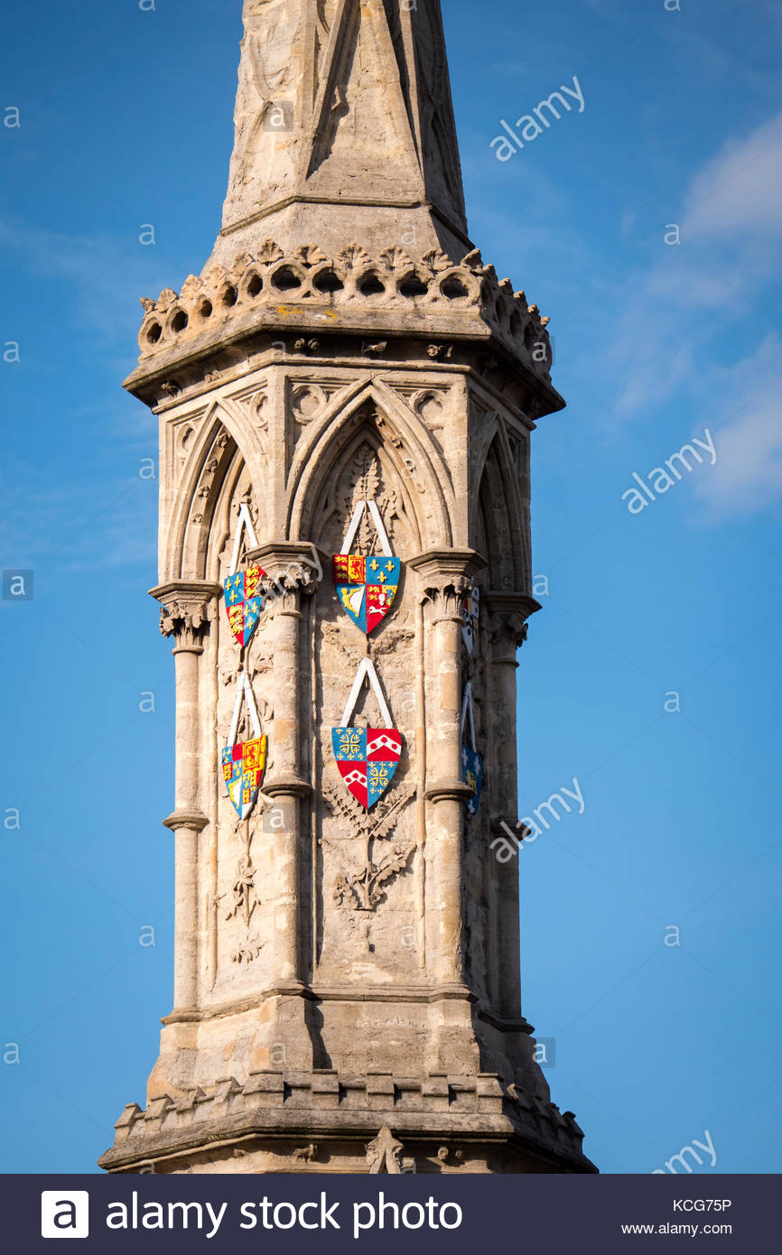 Banbury Cross Banbury Oxfordshire England - Stock Image