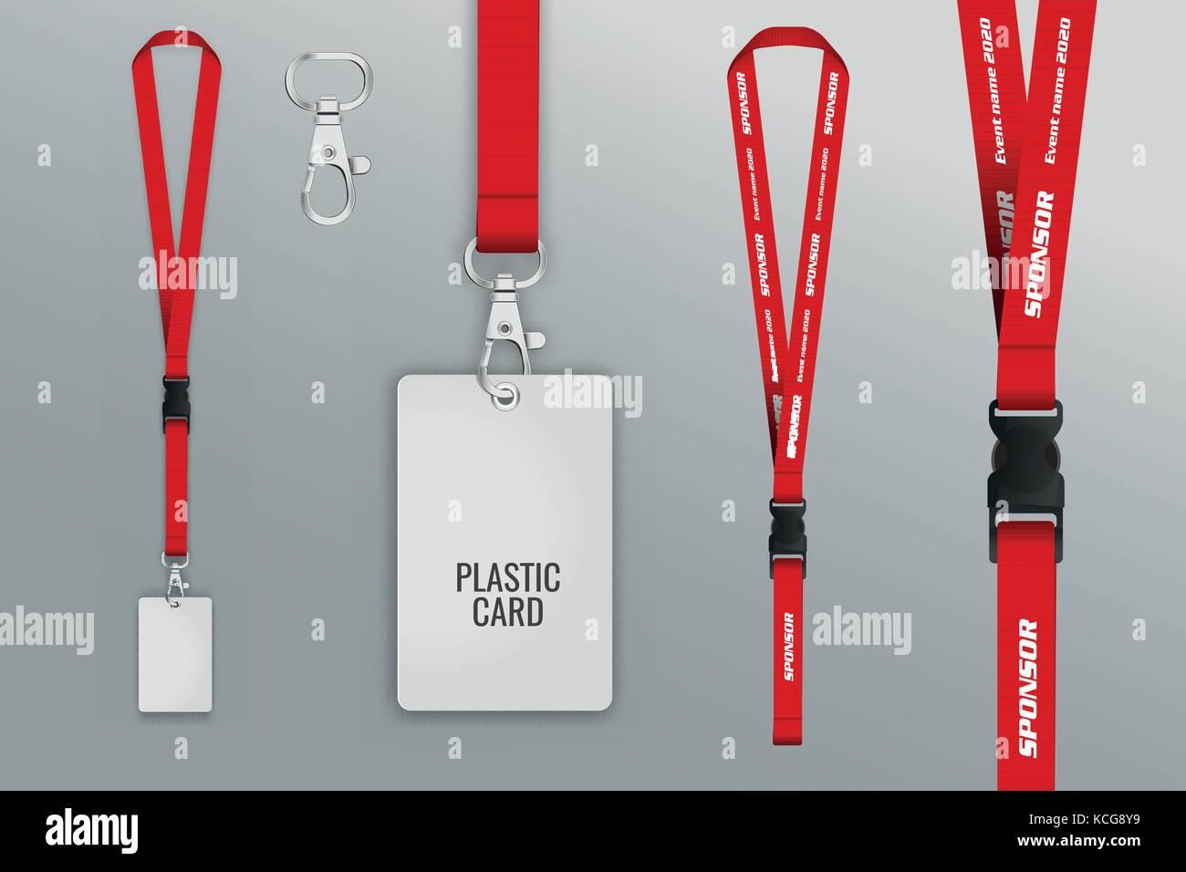 Blank Id Card Tag Ribbon Stock Photos & Blank Id Card Tag Ribbon ...