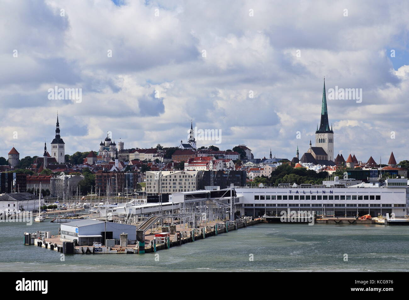 b1d4ddbfe0c Port of Tallinn, Estonia seen from the sea Stock Photo: 162627674 ...