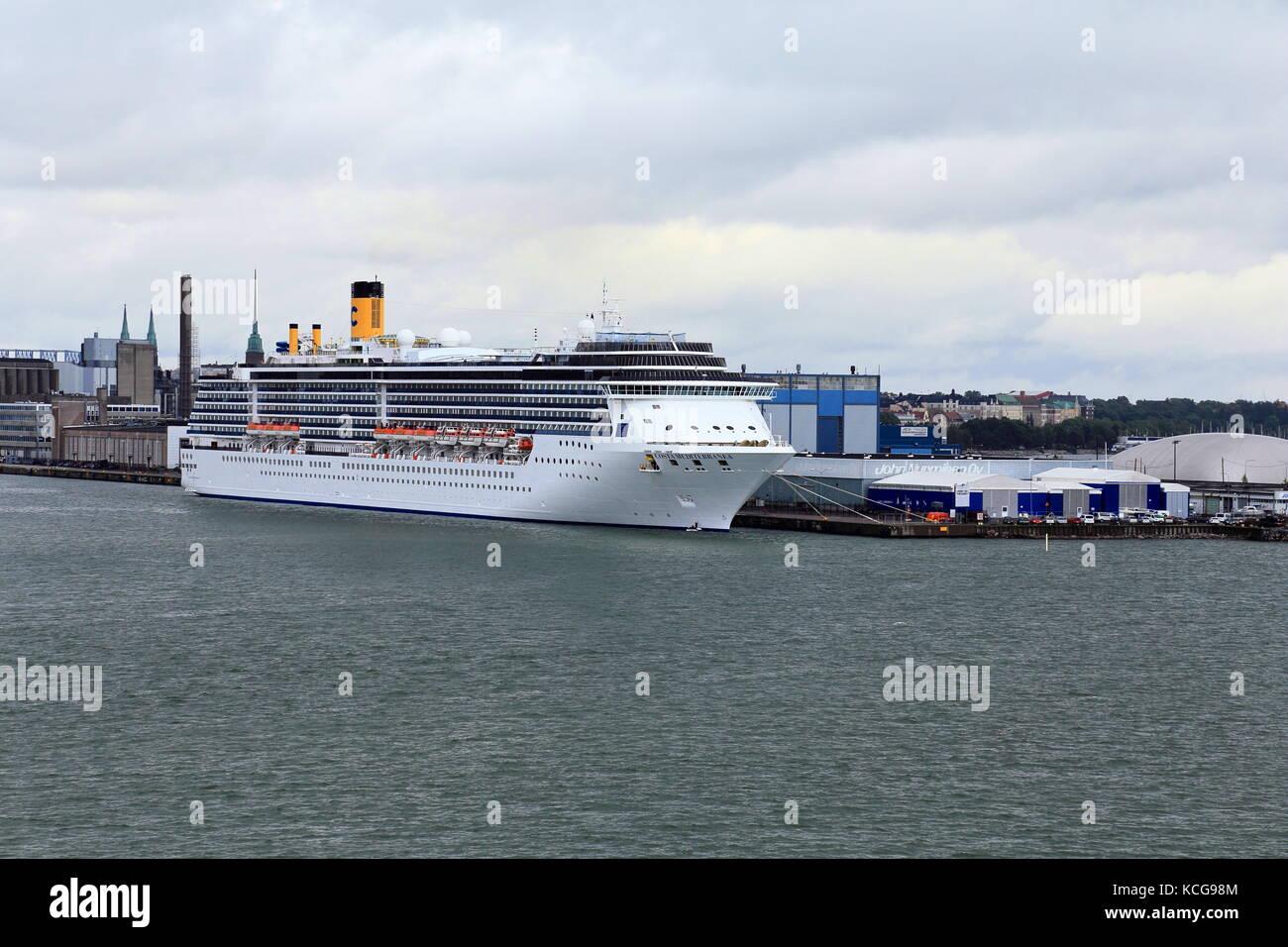 Costa Mediterranea cruise ship in the harbour of Helsinki, Finland - Stock Image