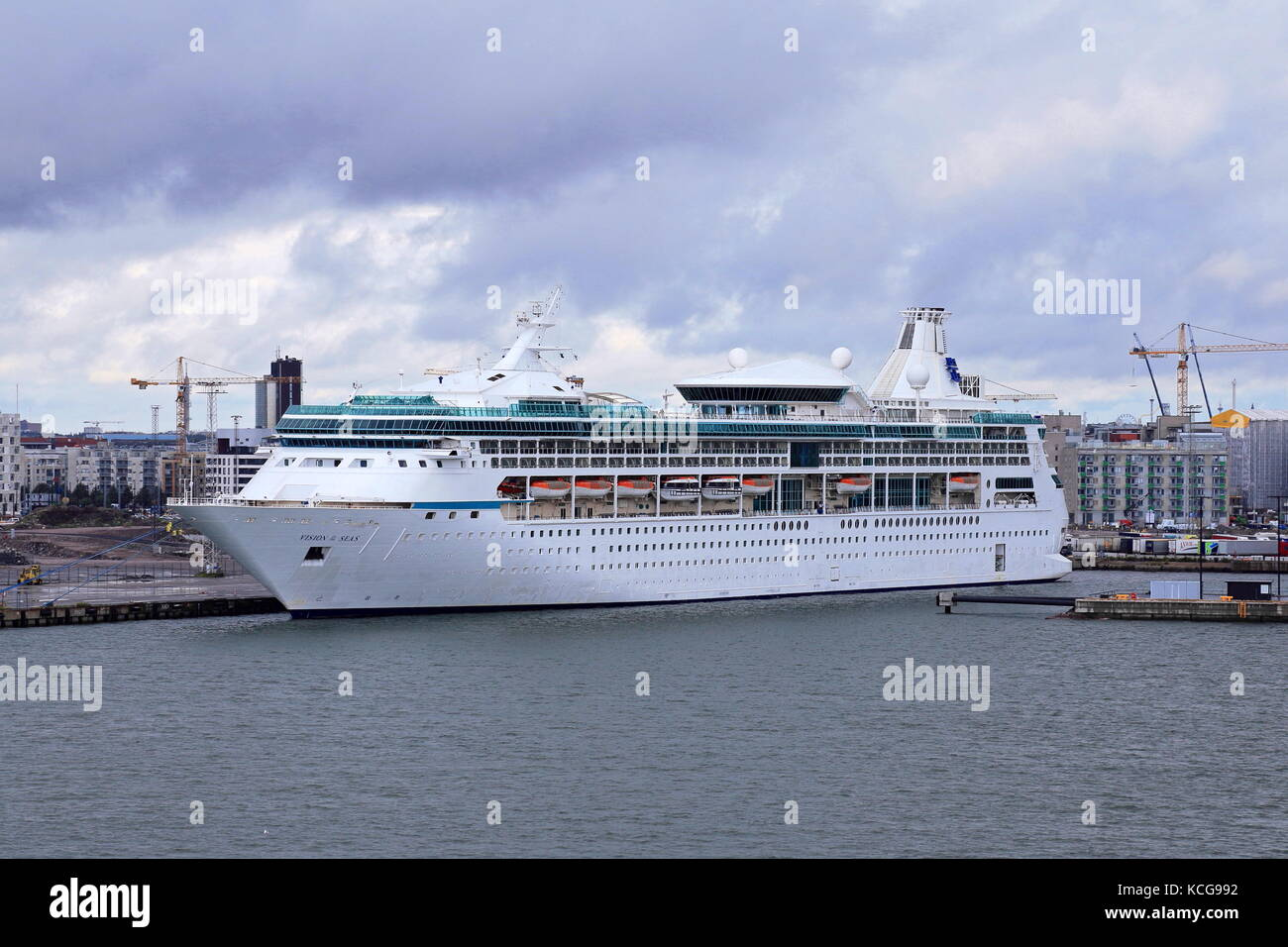 MS Vision of the Seas cruise ship in the harbour of Helsinki, Finland - Stock Image