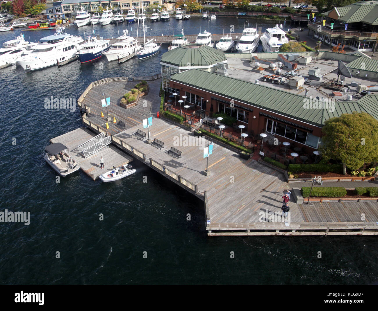 Duke's Seafood & Chowder Restuarant, Seattle, WA 98109, USA - Stock Image
