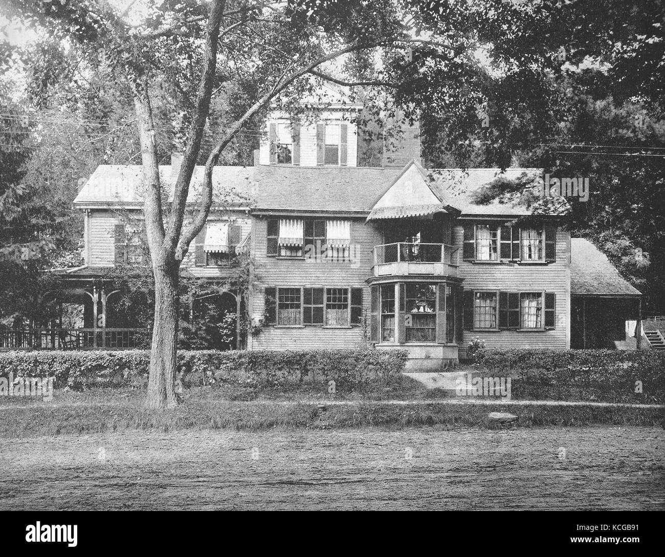 United States of America, State of Massachusetts, the Hawthorn-House at the village of Concord, the home of Nathaniel - Stock Image