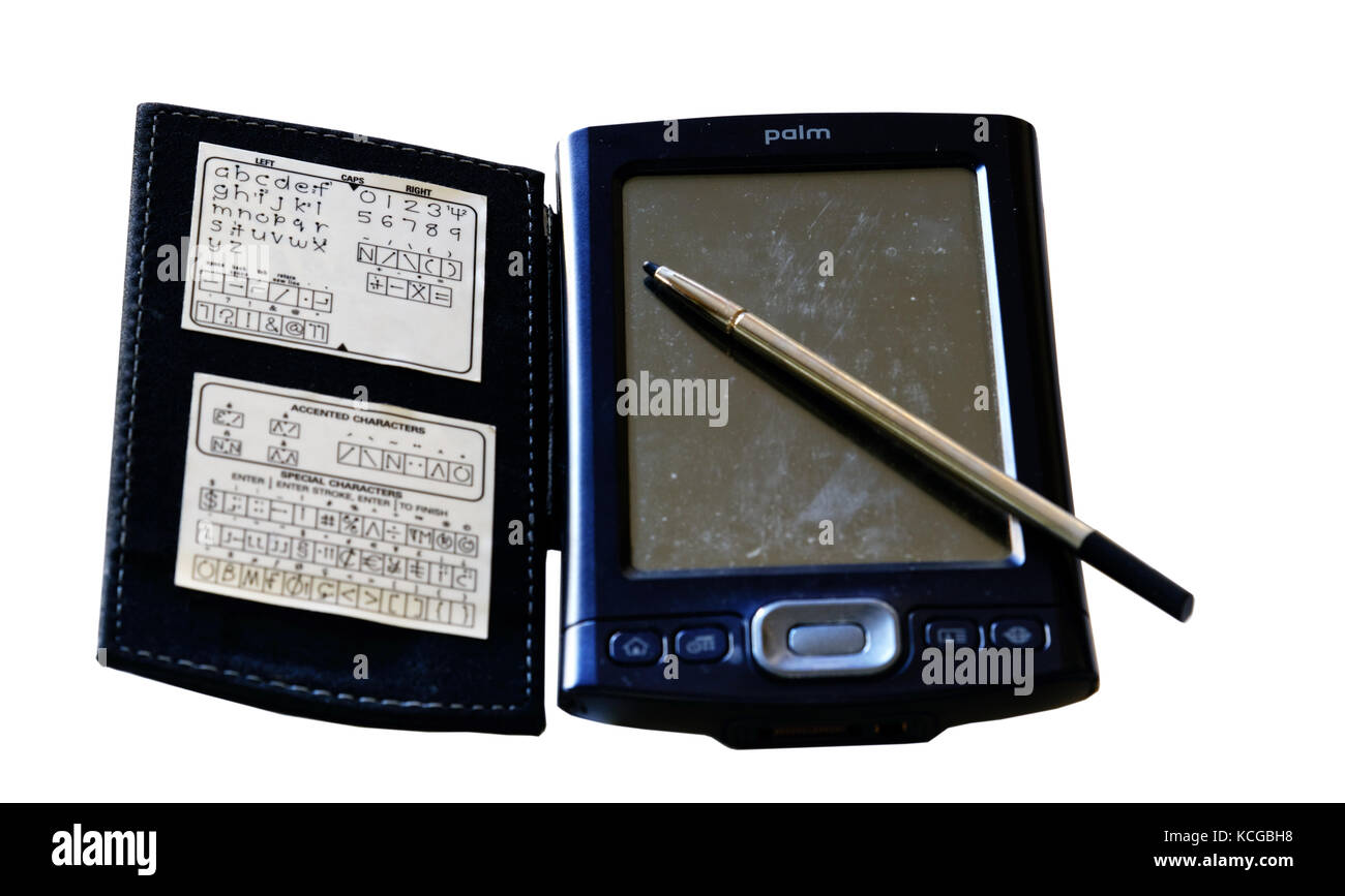 A Palm handheld computer, known as a PDA - personal digital assistant - Stock Image