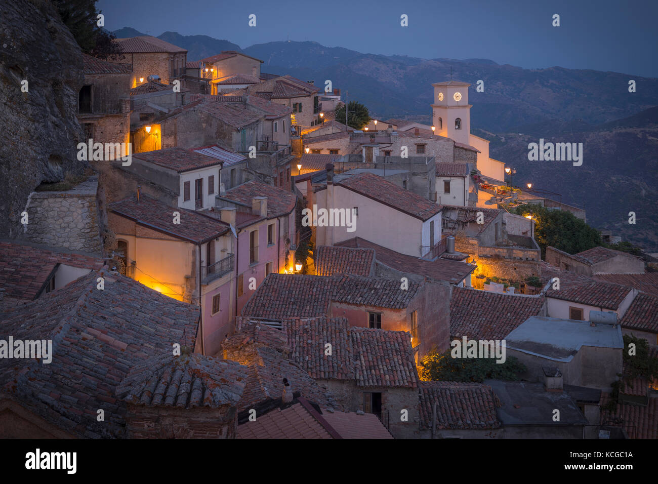 Hilltown of Bova, Calabria, Italy. - Stock Image