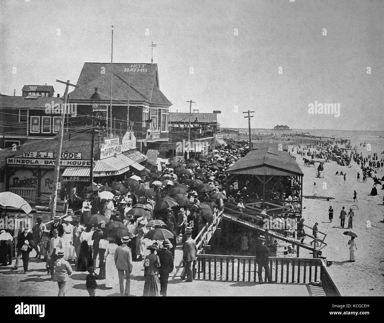 United States of America, the beach promenade in Atlantic City, seaside resort of Philadelphia, State of Pennsylvania, - Stock Image