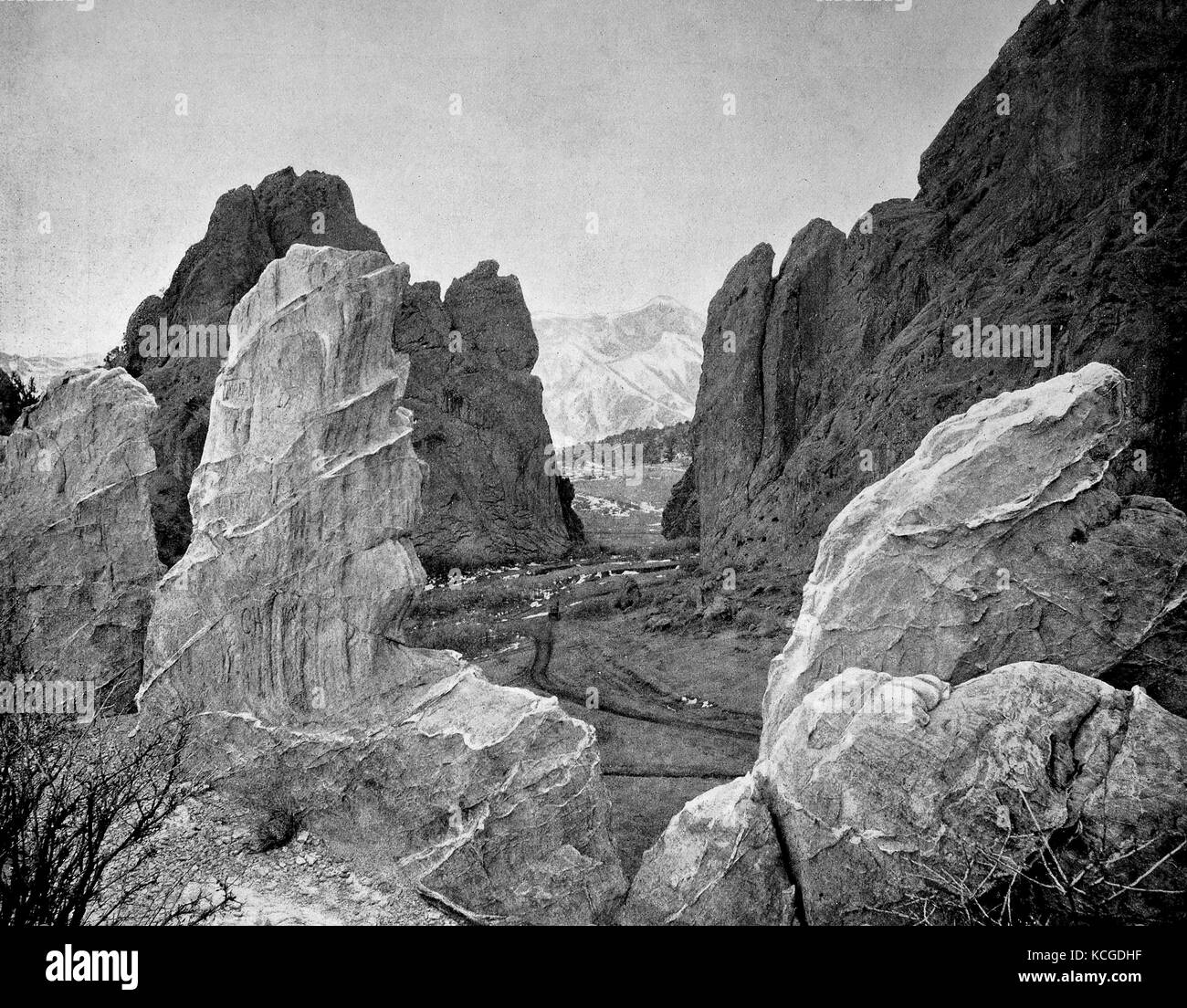 United States of America, landscape at Utah Pass, the Garden of the Gods at the foot of Mount Pikes Peak near Colorado - Stock Image