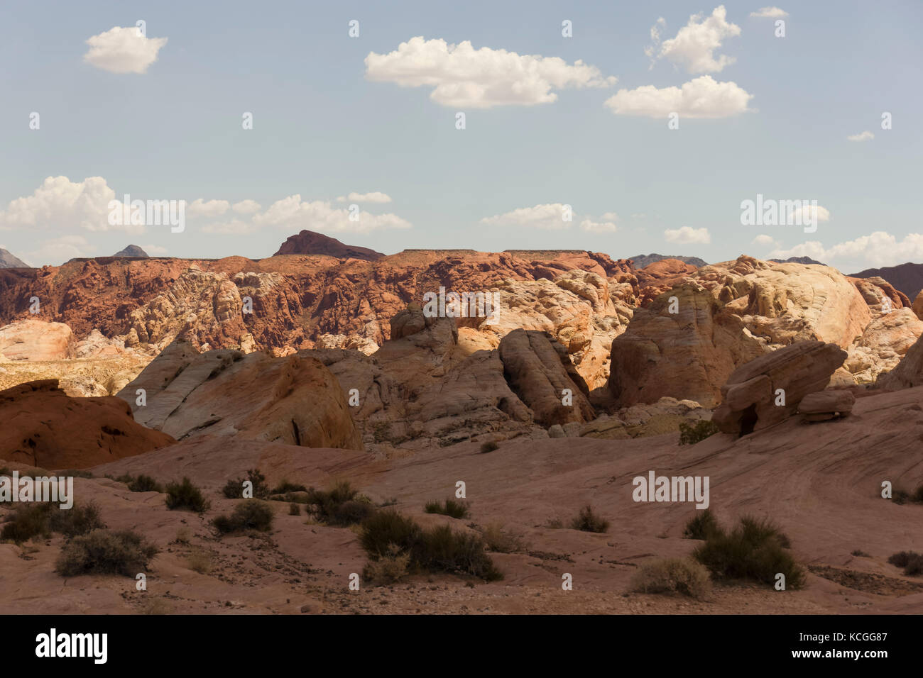 A desolated section of The Valley of Fire, Nevada - Stock Image