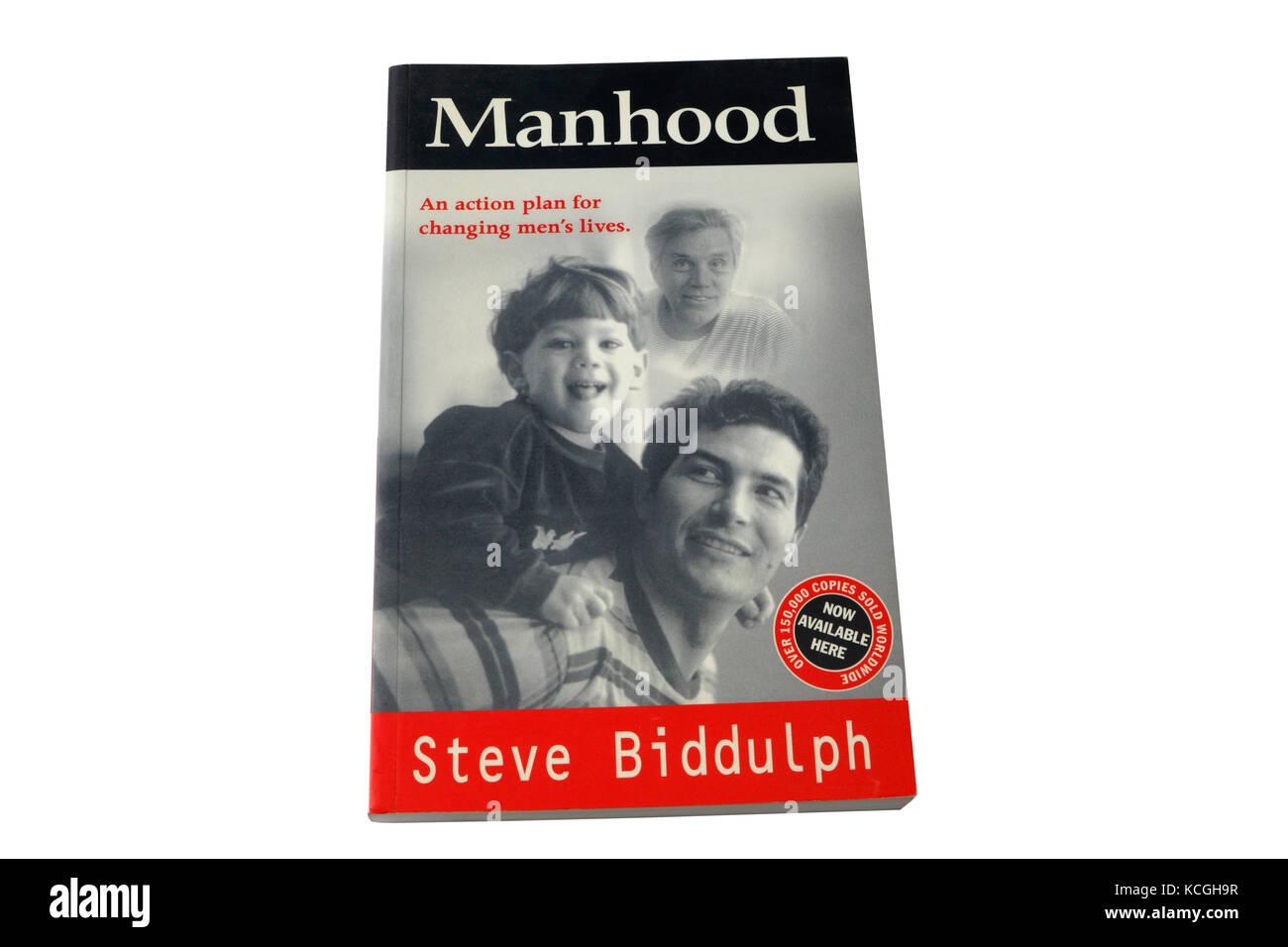 Manhood by Steve Biddulph, Book cover - Stock Image