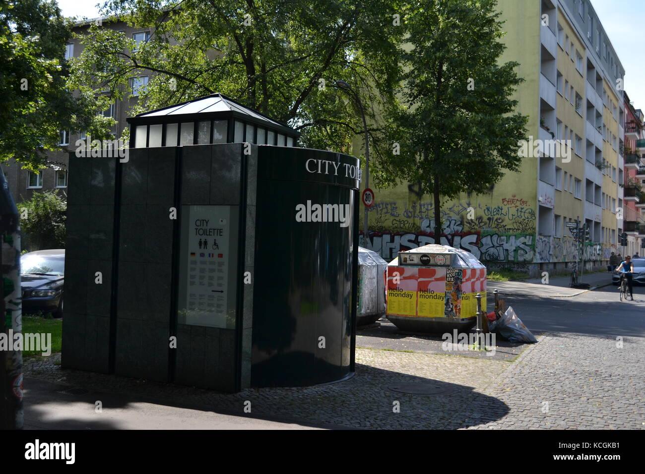 Public bathroom in Berlin Stock Photo