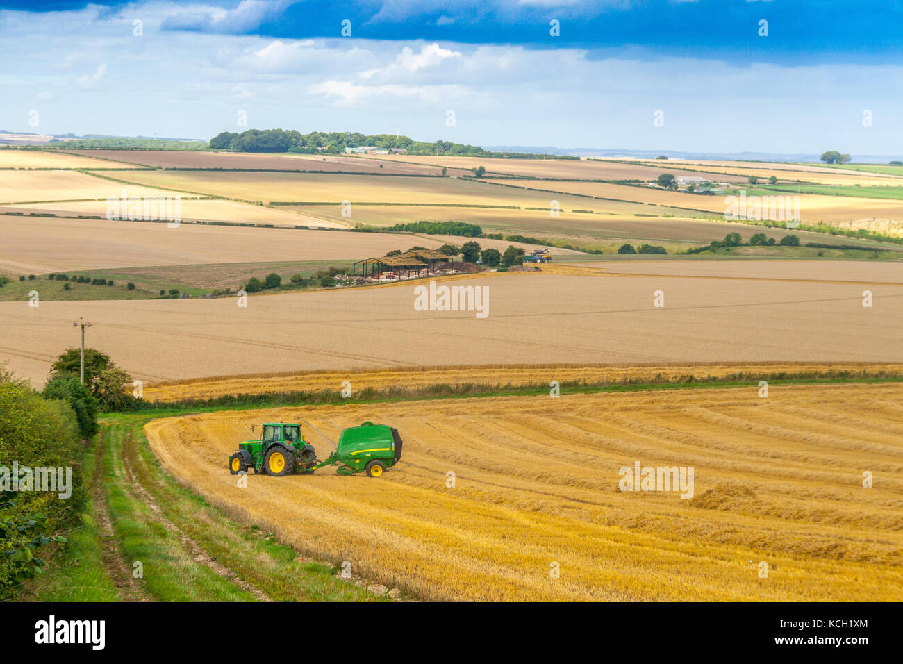 Round Baler Stock Photos & Round Baler Stock Images - Alamy