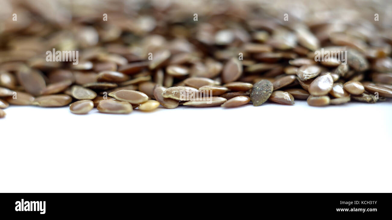 flax seeds ,macro view, healthy food concept, shallow dof , image of a - Stock Image