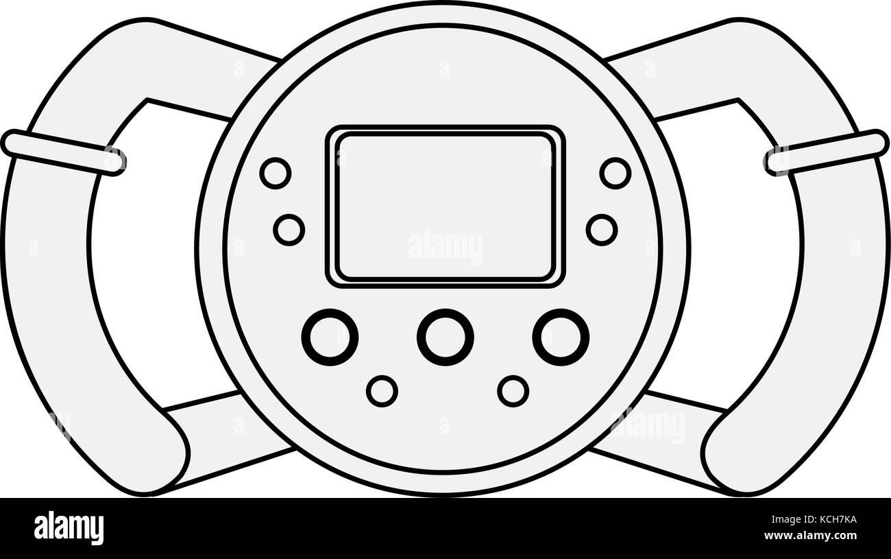 Formula 1 steering wheel - Stock Image