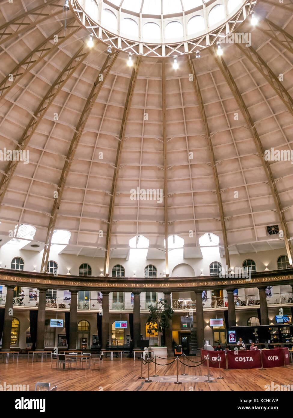 The Devonshire Dome, more than 150 feet in diameter, Buxton, Derbyshire - Stock Image