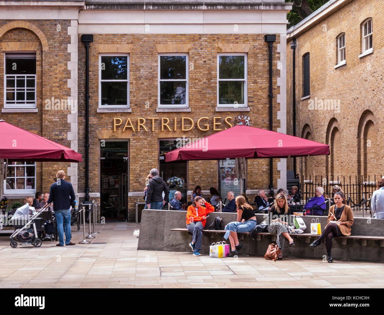 Partridges Food Shop, Duke of York Square, Kings Road, London - Stock Image
