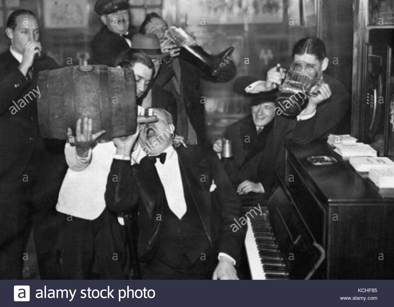 Prohibition in USA in vintage photography - Stock Image