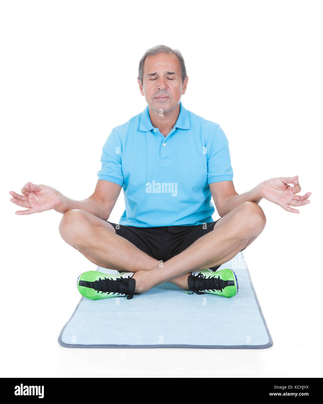 Lotus Position Old Man Stock Photos & Lotus Position Old