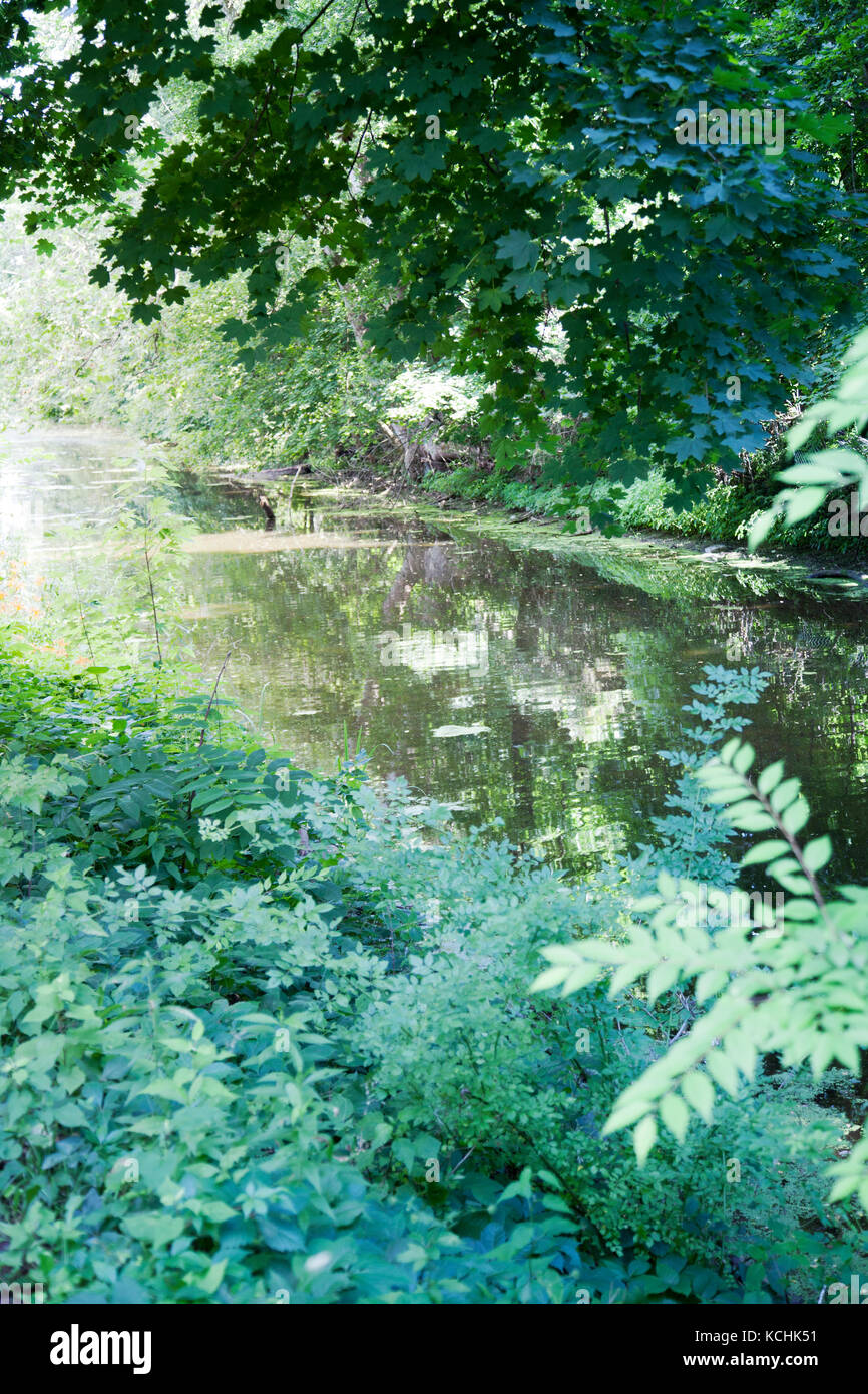New Hope Delaware Canal Towpath in Pennsylvania - USA - Stock Image