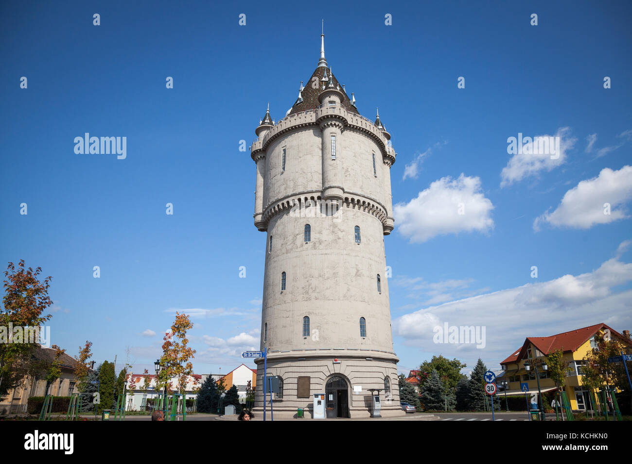DROBETA TURNU SEVERIN, ROMANIA - SEPTEMBER 24, 2017: Turnu Severin Water Tower (Castelul de Apa), one of the landmark - Stock Image