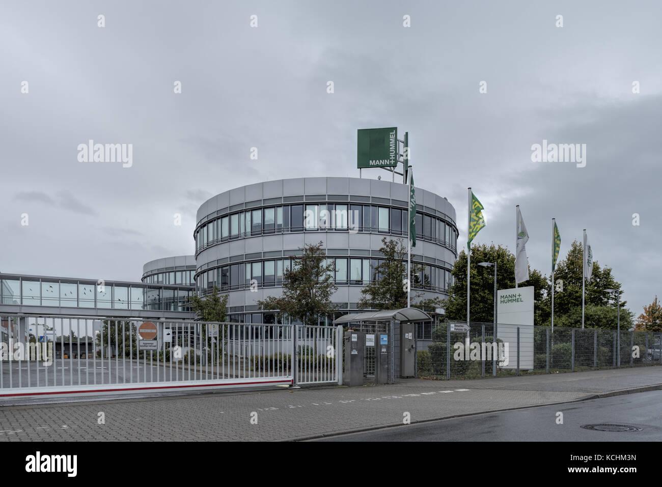 Mann und Hummel GmbH, Wirtschaft, Deutschland, Rheinland-Pfalz, Speyer, Industriebgebiet, October 05. Metallbauunternehmen. - Stock Image