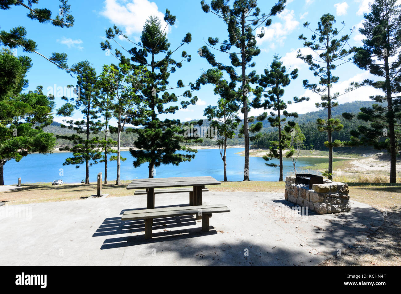 Tinaroo Falls Dam is also used as a picnic and recreation area, Atherton Tablelands, Far North Queensland, Australia - Stock Image