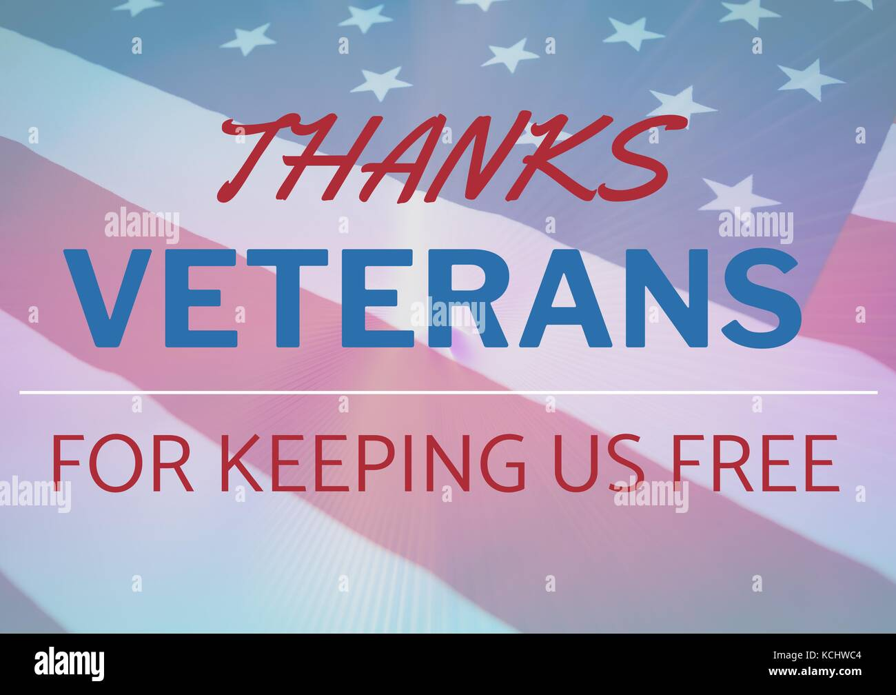 Digital composite of veterans day flag Stock Photo