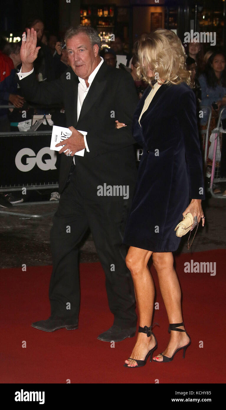 Sep 05, 2017 - Jeremy Clarkson and Lisa Hogan attending GQ Men of The Year Awards 2017, Tate Modern in London, England, Stock Photo