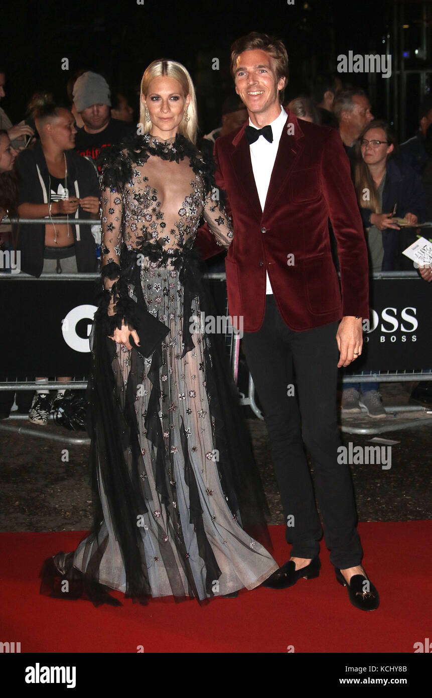 Sep 05, 2017 - Poppy Delevingne and James Cook attending GQ Men of The Year Awards 2017, Tate Modern in London, Stock Photo