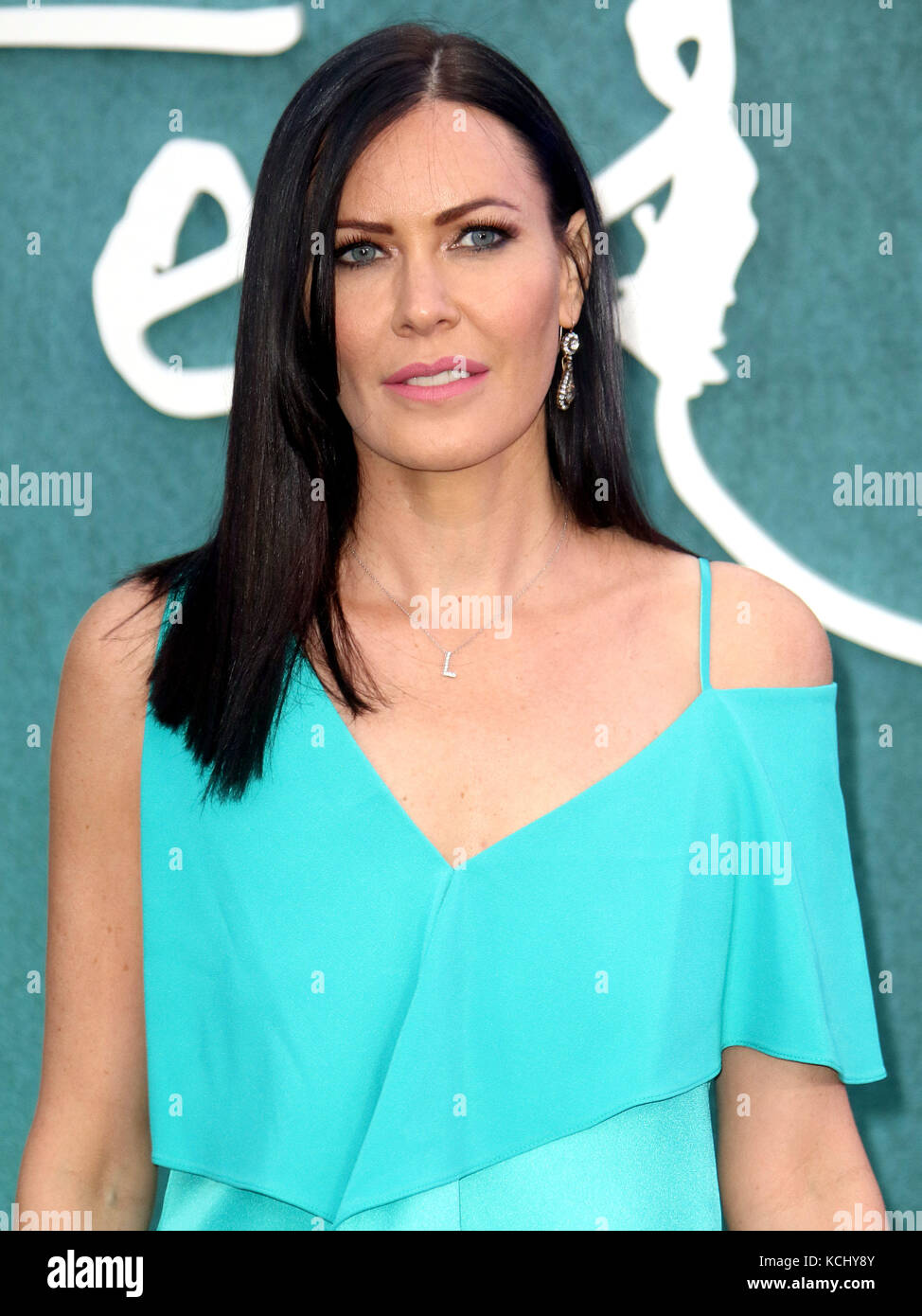 Sep 06, 2017 - Linzi Stoppard attending 'Mother!' UK Premiere, Odeon Leicester Square in London, England, UK Stock Photo
