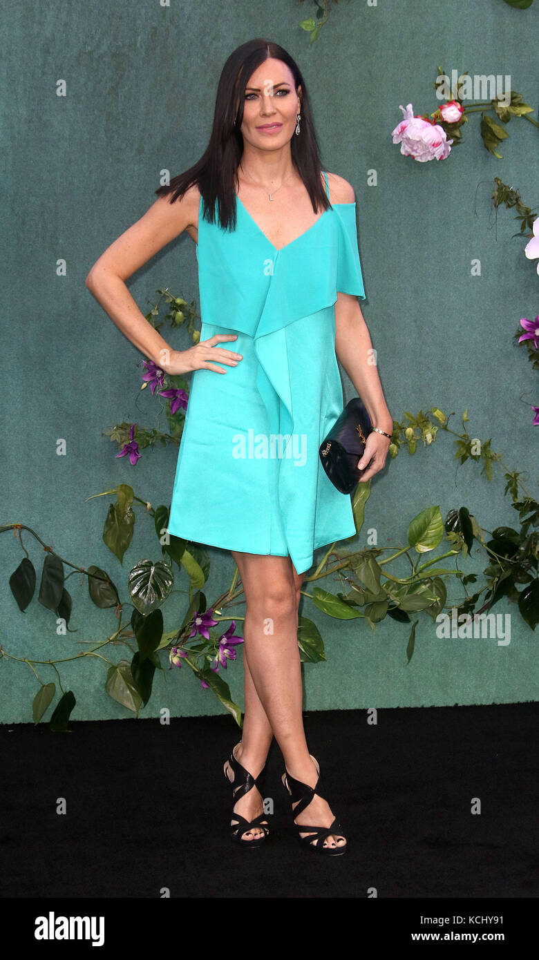 Sep 06, 2017 - Linzi Stoppard attending 'Mother!' UK Premiere, Odeon Leicester Square in London, England, - Stock Image