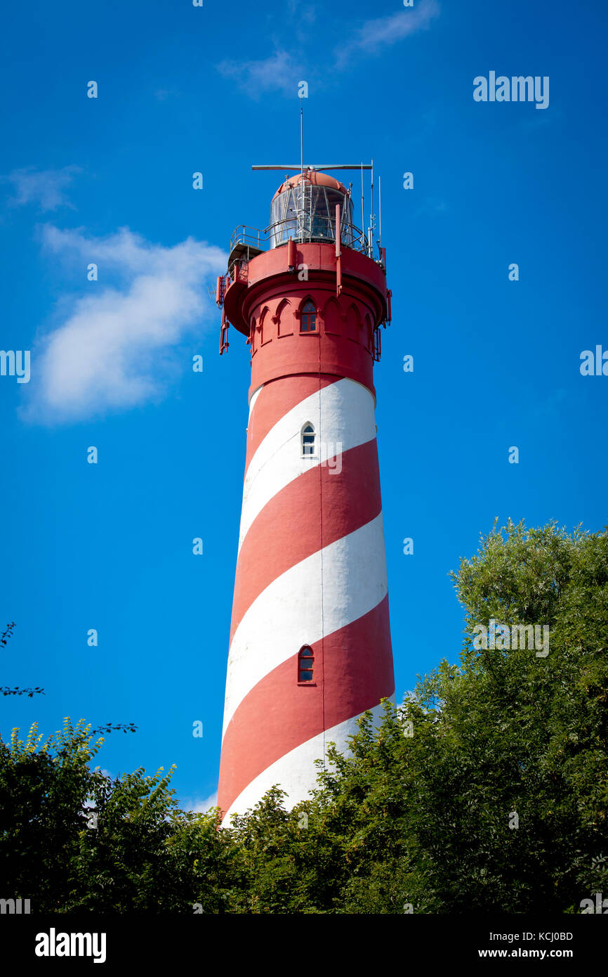 Europe, Netherlands, Zeeland, the lighthouse of Nieuw-Haamstede at Schouwen-Duiveland.  Europa, Niederlande, Zeeland, - Stock Image