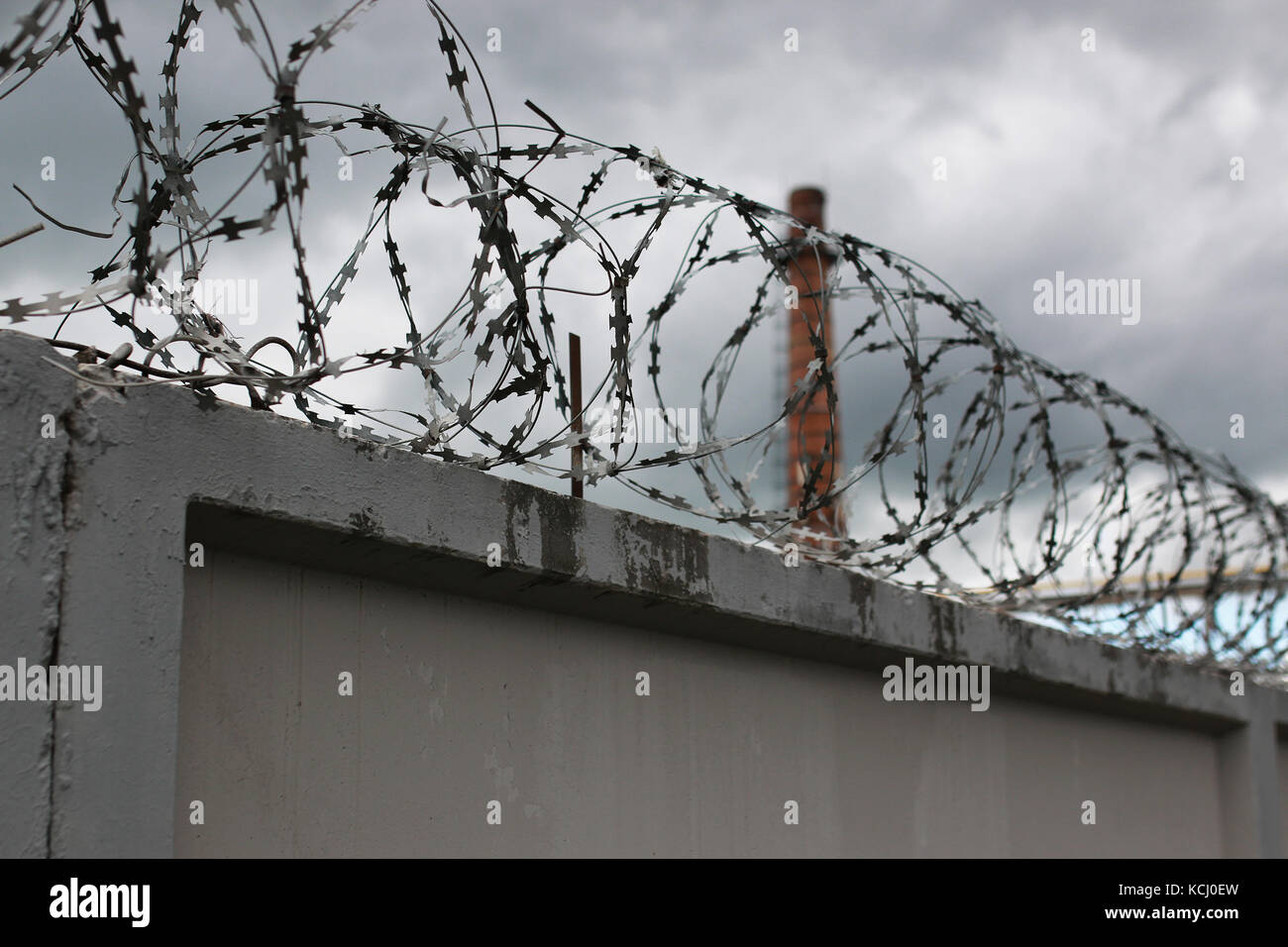 Security system using wire fences  - Stock Image